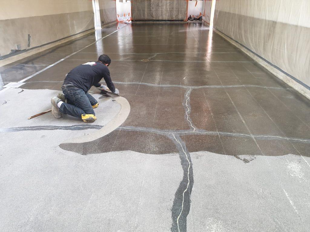 Décapage et préparation du beton